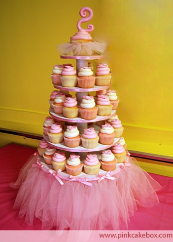 Pink Tutu Cupcake Stand by Pink Cake Box Jodi who shot our wedding cake