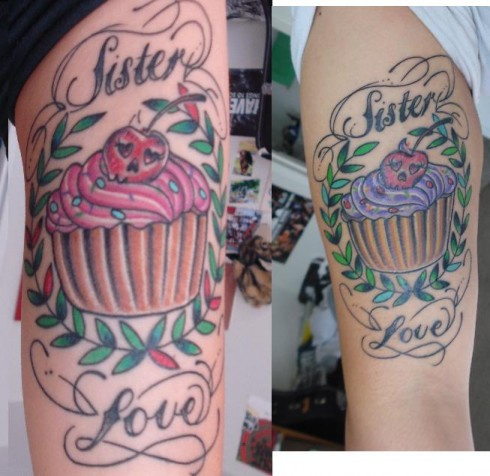 We wanted a 'sister tattoo' for the longest, we didn't want
