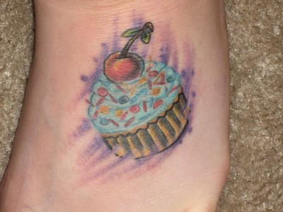 best friends tattoo. Beautiful cupcake tattoo