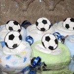 diaper cupcake soccer