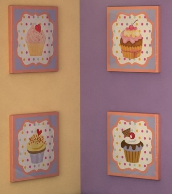 Wall  Canvas on Cupcake Bedding For Baby    All Things Cupcake