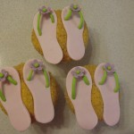 Beach Slipper Cupcakes