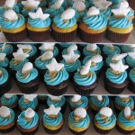 Sand and Seashells Cupcakes