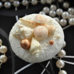 Pearls and White Seashell Cupcakes