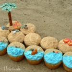 Multiple cupcake beach